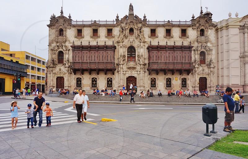 The Archbishop's Palace in Lima Peru photo
