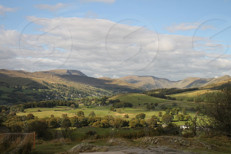 Cumbrian Countryside view from Orrest Head photo