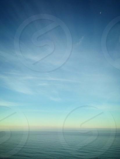 Vast ocean view from Highway 1 in Northern California. photo