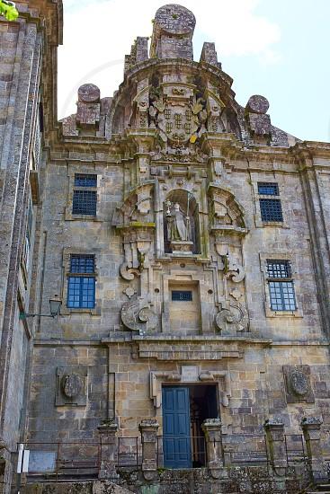 Santiago de Compostela end of Saint James Way Santa Calra Convento in Galicia Spain photo