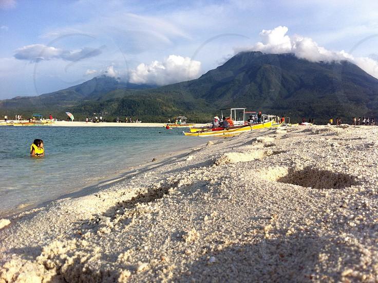 sand bar in Camiguin Island photo