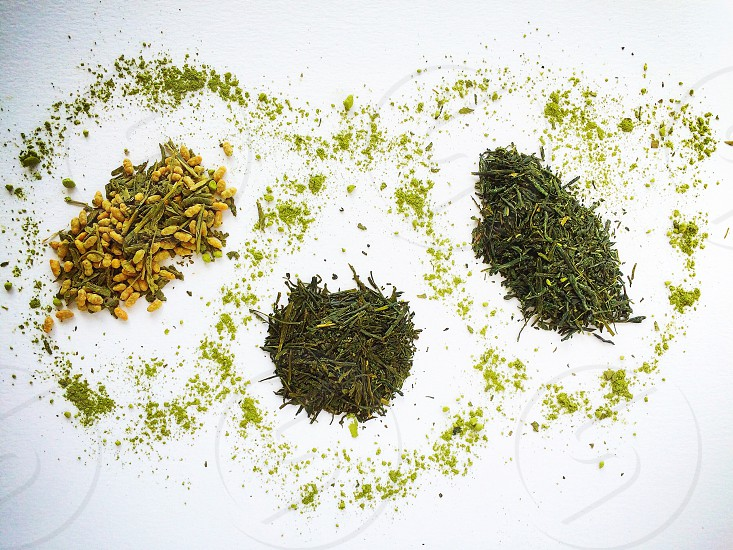 Tea green tea still life food photography green from above composition natural light photo