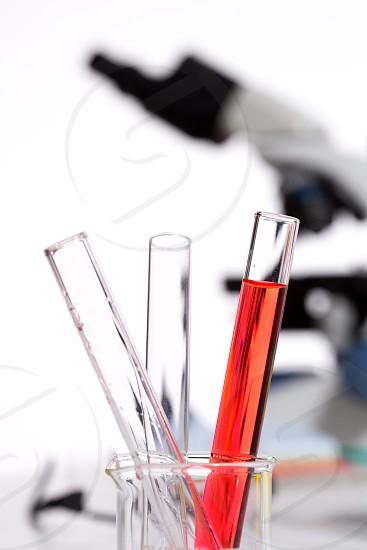 Chemical scientific laboratory stuff test tubes detail macro photo