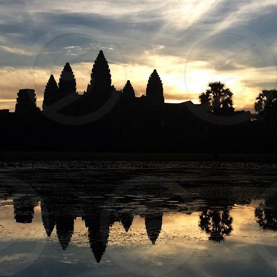 Sunrise over Angkor Wat Cambodia  photo