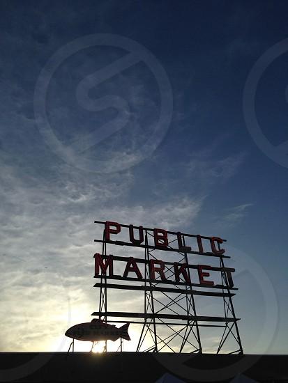 Seattle public market glow photo
