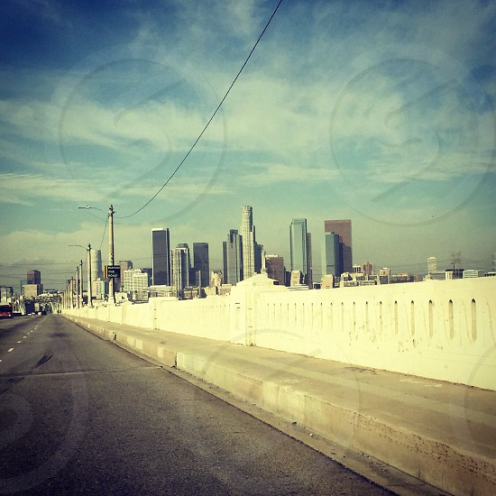 View of Los Angeles from the 4th Street Bridge photo