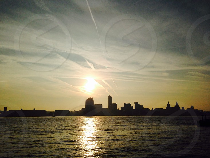 Liverpool silhouette sunrise photo