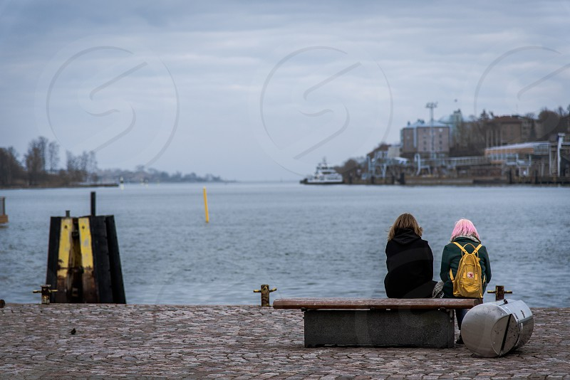 A silent afternoon in April at the Helsinki Market Square.  photo