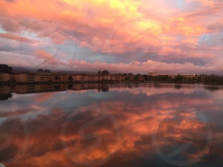 October Sunrise Reflection photo