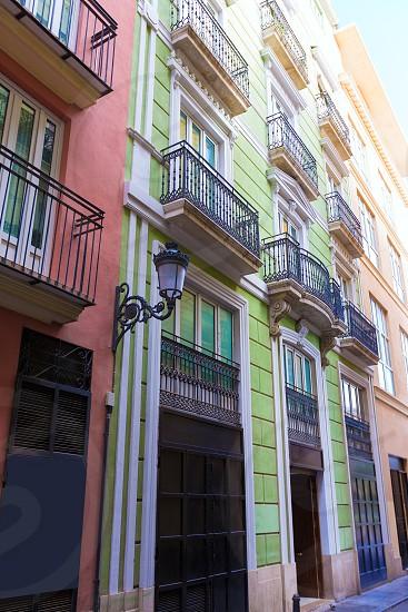 Valencia  Corretgeria Corregeria street near Plaza de la Reina at Spain photo