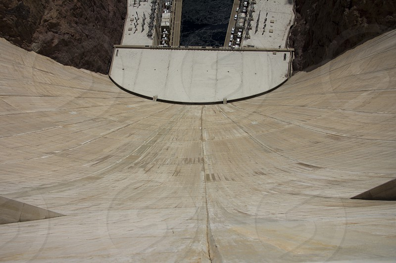 Hoover Dam seen from the rim photo