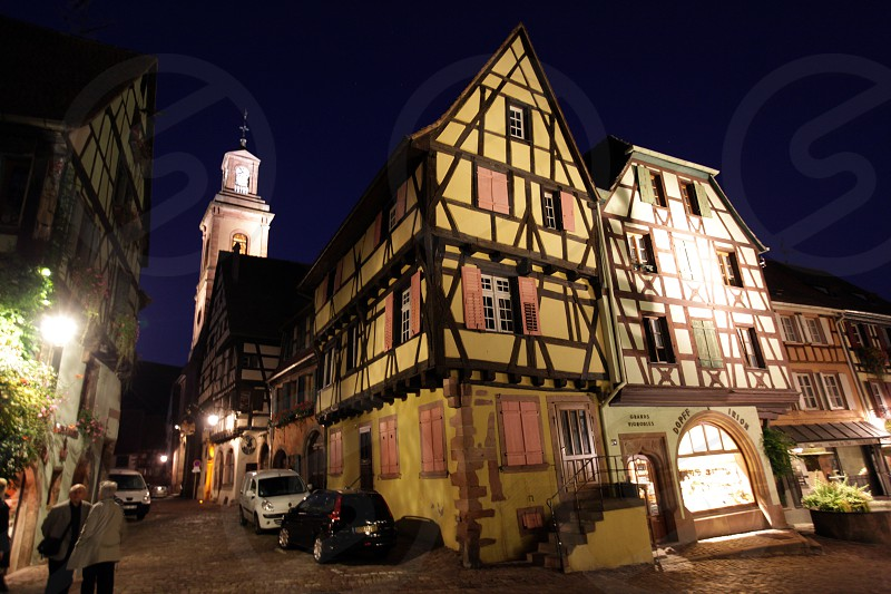 the olt town of the village of Riquewihr in the province of Alsace in France in Europe photo