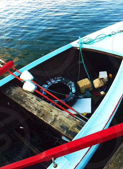 Boat fishing boat. Jetty water ocean  photo