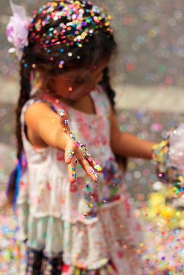 Fiesta Santa Barbara California child girl photo