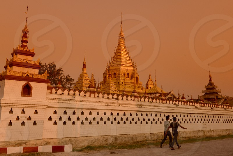 the Yadana Man Aung Pagoda in the city of Nyaungshwe on the Inle Lake in the Shan State in the east of Myanmar in Southeastasia. photo