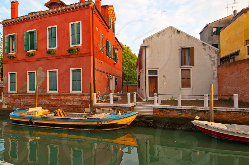 Venice Italy unusual pittoresque view of the  most touristic place in the world still can find some secret hidden spot photo