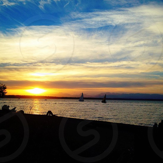 Golden Gardens park sunset photo
