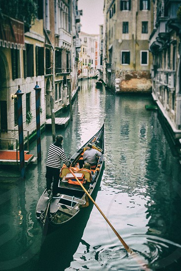 Reflections in Venice canal photo