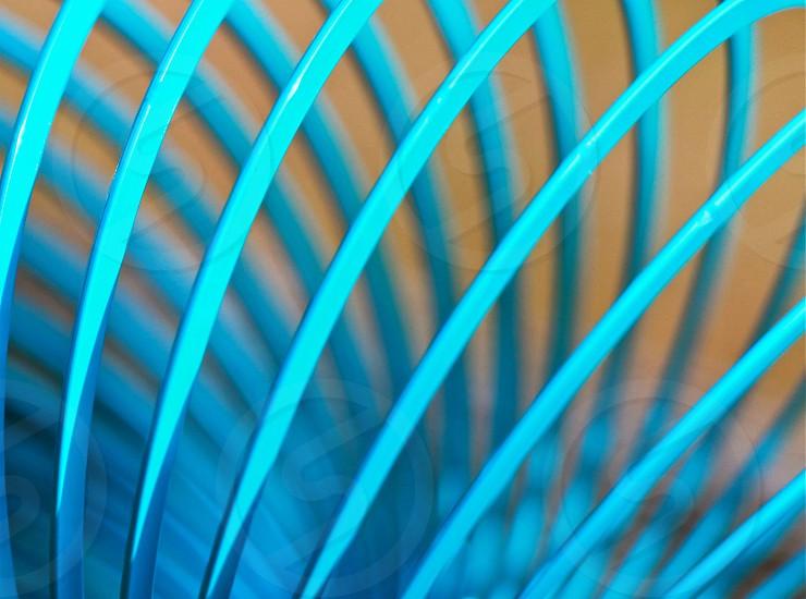 blue electric fan in macro lens photography photo