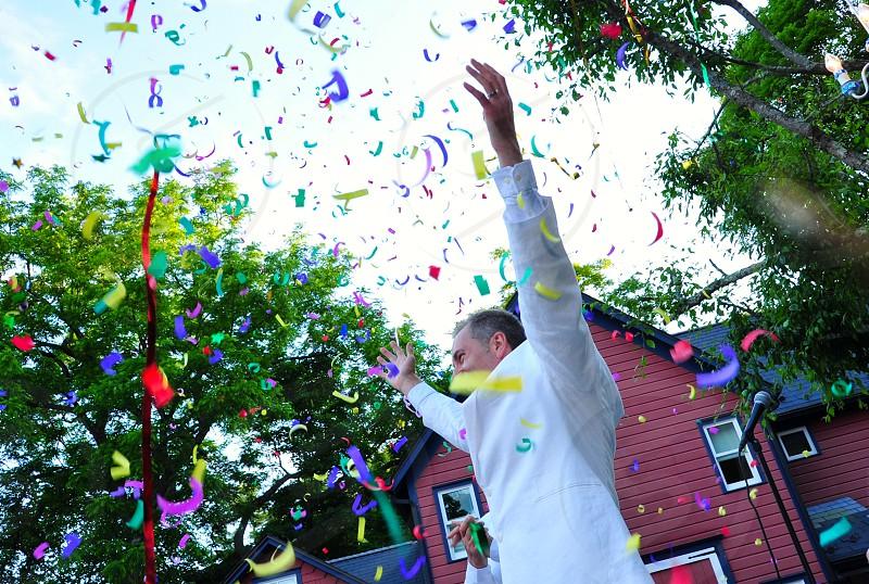LGBT Wedding Celebration Confetti photo