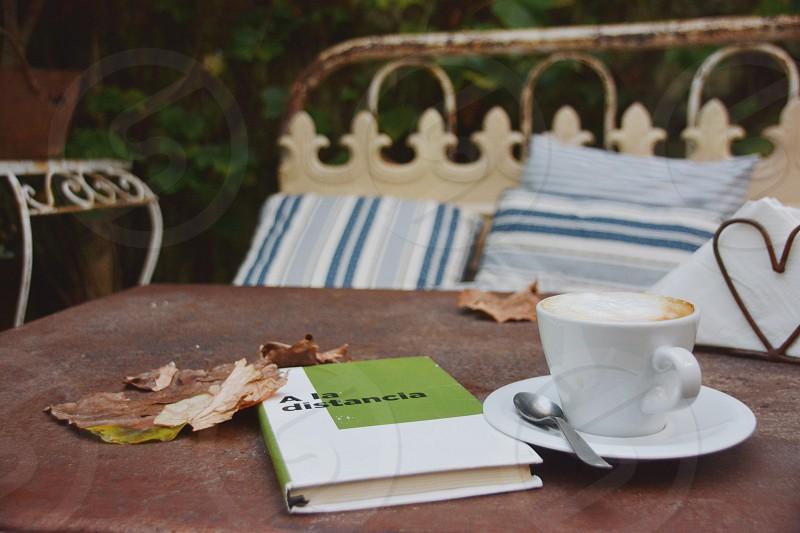 Coffee table tea book peace photo