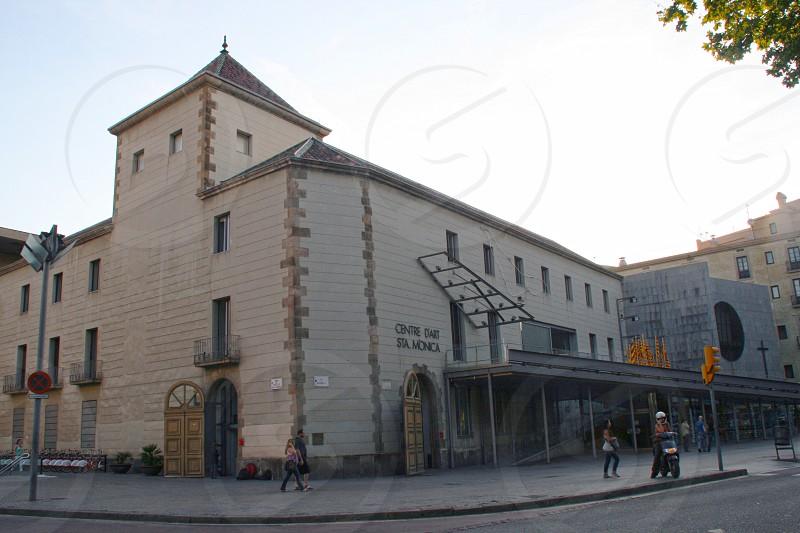 Centre d'Art Santa Mònica in Barcelona city center Catalonia. photo