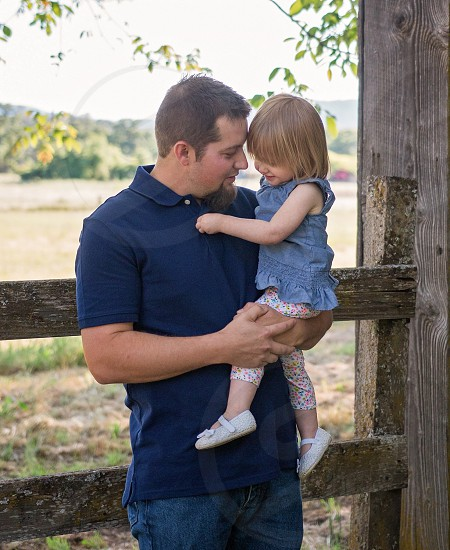 Father and daughter cute love little girl  photo