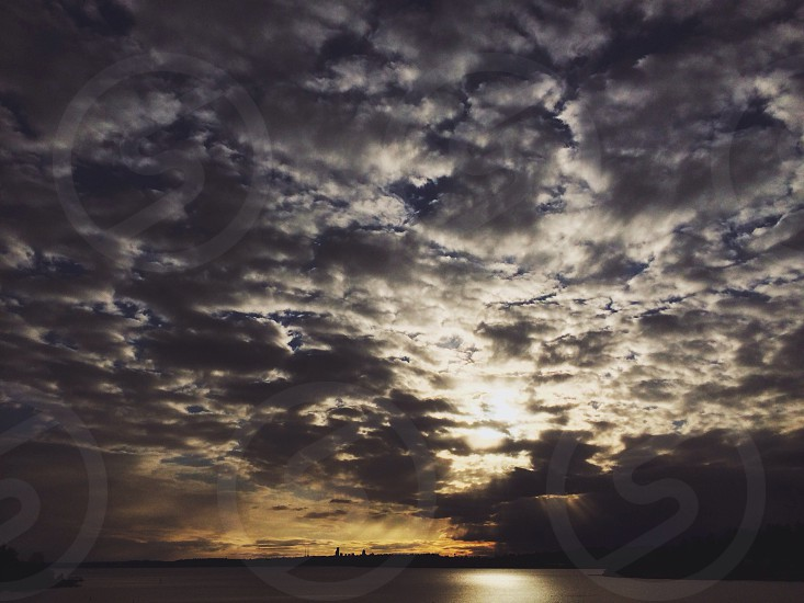 grey clouds photo