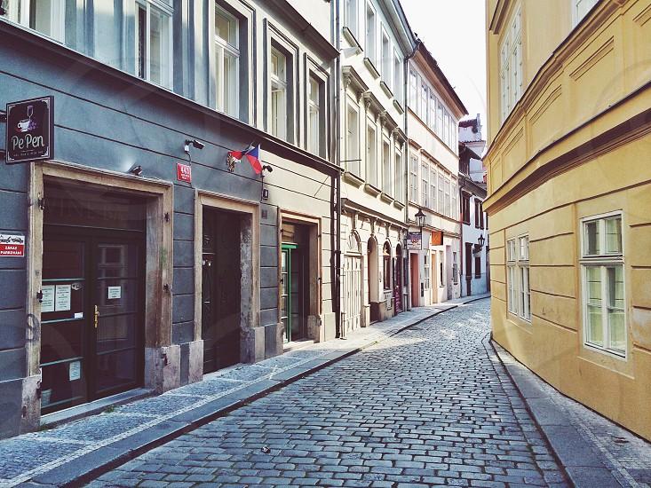 Empty street. photo
