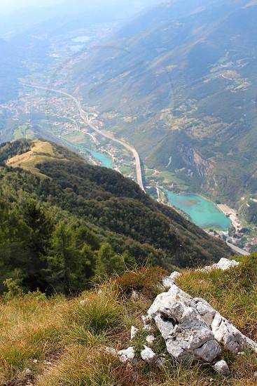 Restelllo lake from Monte Pizzoc Veneto Italy photo