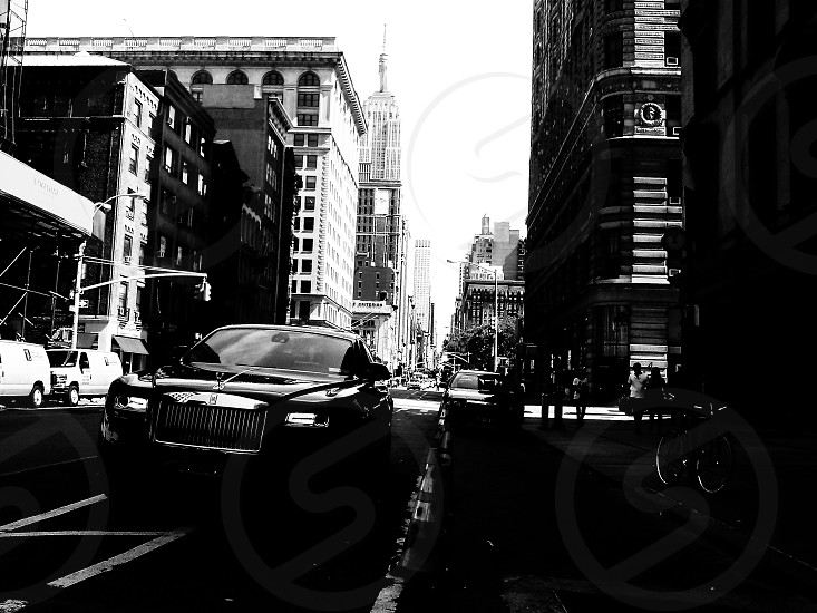 black and white city photography photo
