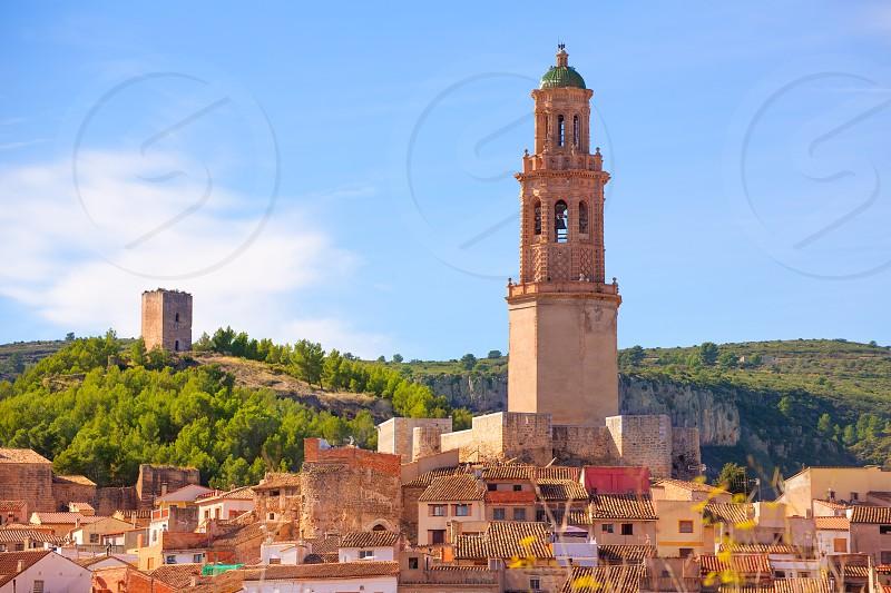 Jerica Castellon village skyline in Alto Palancia of Spain Valencian Community photo
