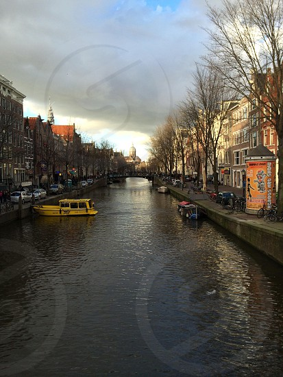 Canal in Amsterdam photo