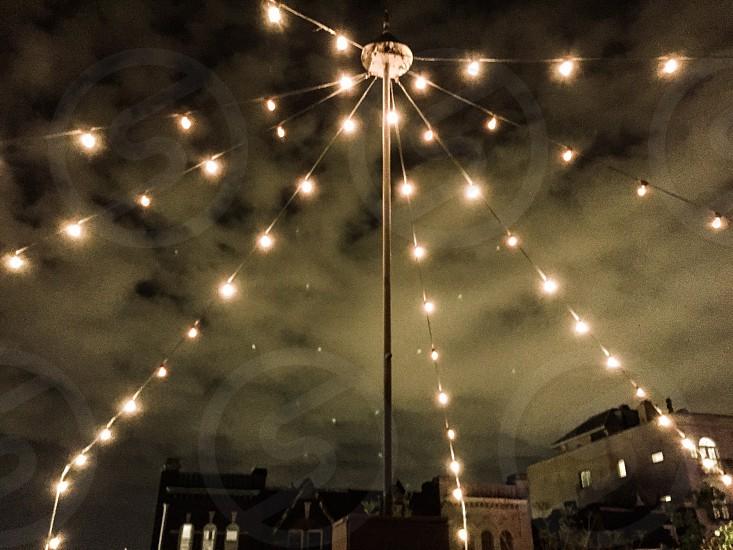 Lights city patio summer lights photo