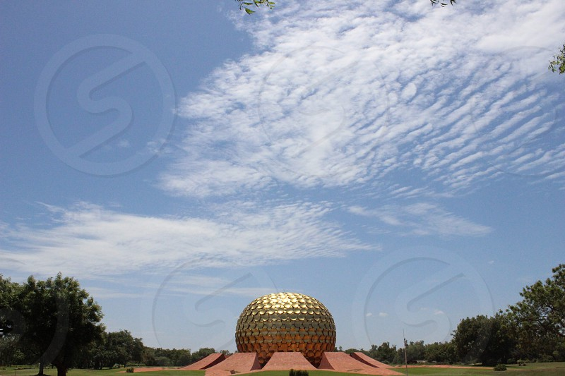 The Matrimandir Auroville India. photo