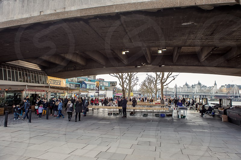 Weekly Book Sale South Bank London photo