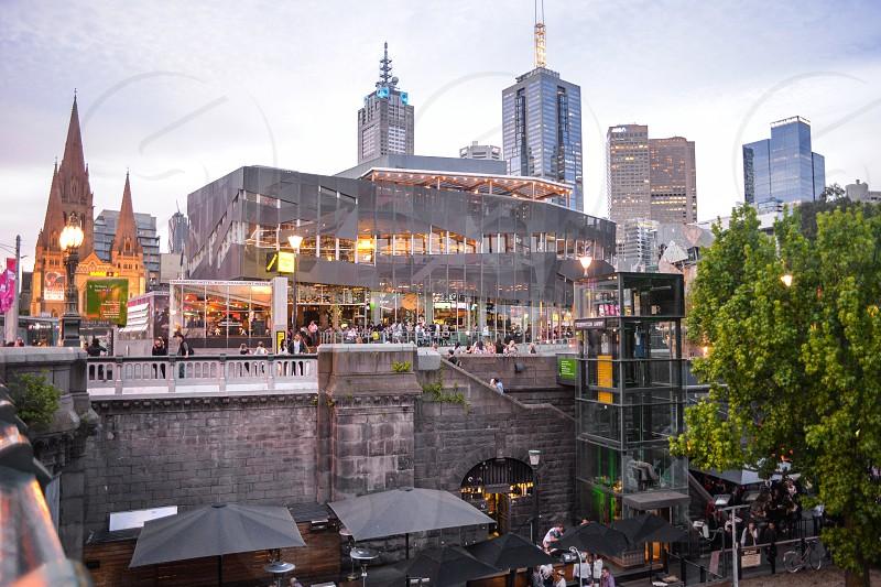 Melbourne's Princess Walk on the Yarra North River bank photo