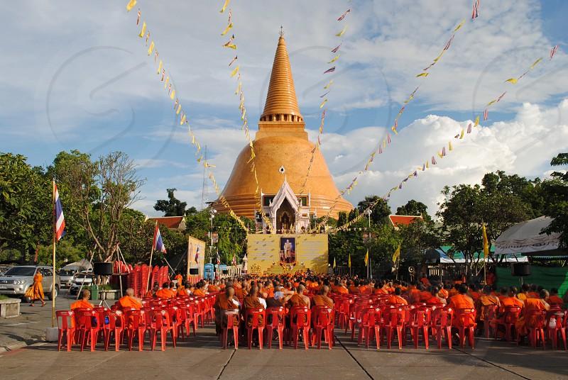 Temple monks photo