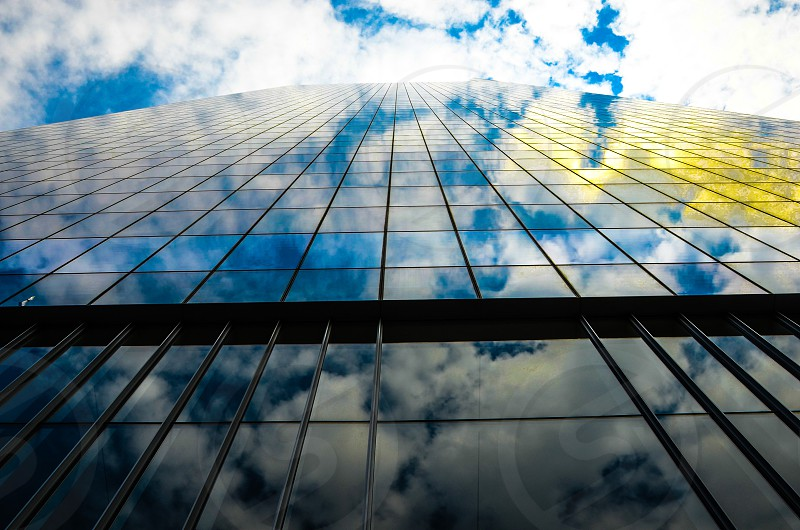 Architectural glass panels photo