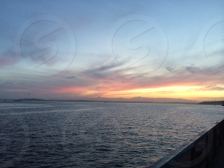 Elliott bay sunset photo