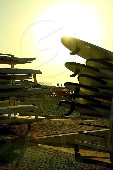 surf sport beach israel telaviv sand waves sun sunset table photo