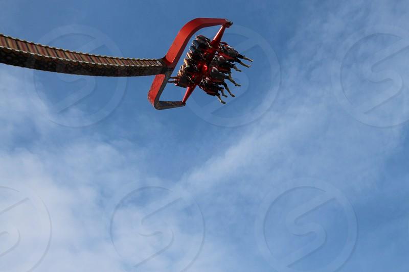 Swing high sky ride photo