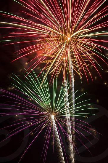 assorted-color fireworks exploding photo