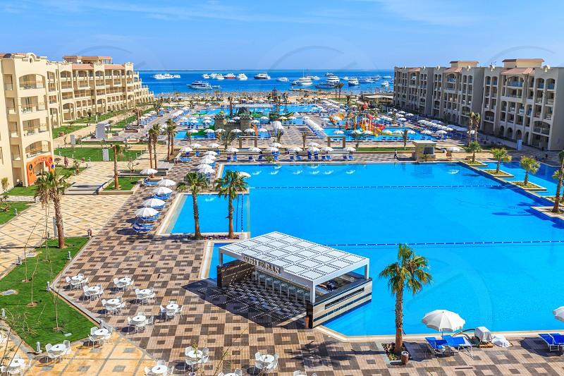 Over View White Beach Resort Hurghada Redsea photo