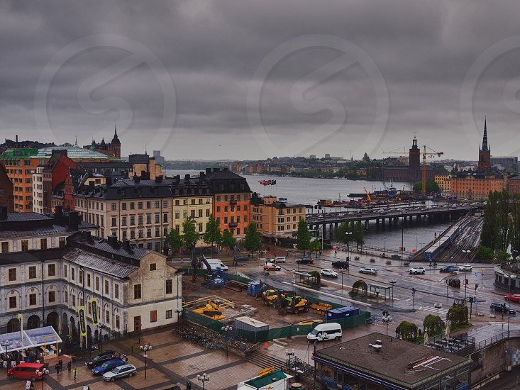Stockholm on a rainy day photo