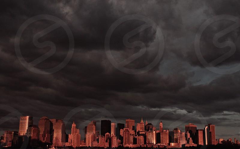 Sky New York City dramatic photo