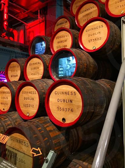 Guinness storehouses barrels Dublin Ireland beer  photo