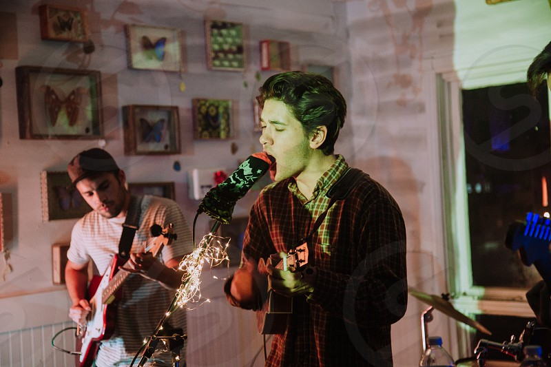 People playing music in a band photo