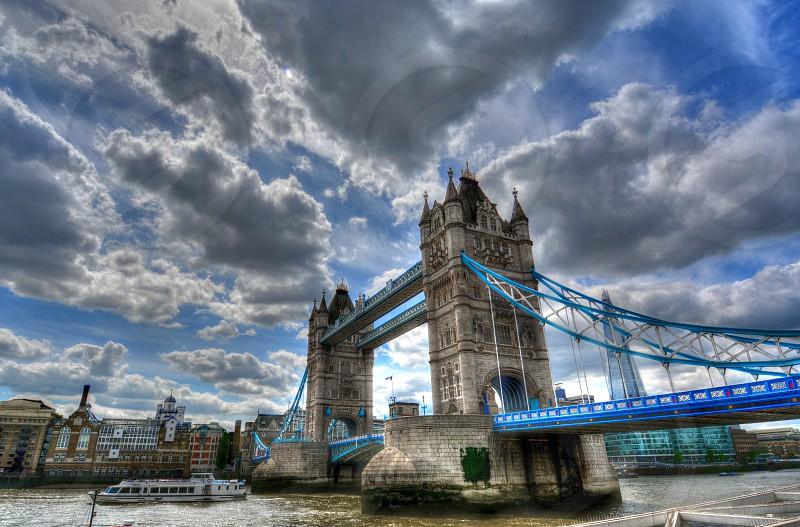 Tower Bridge in London England. photo