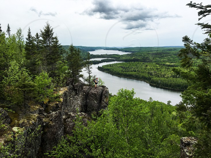 Border Route Trail north eastern Minnesota looking into Canada photo